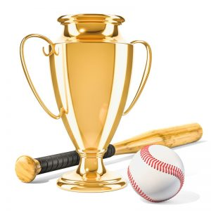 トロフィーと野球